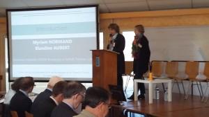 Introduction de la journée par les directrices de l'ADEME Bourgogne et de l'ADEME Franche-Comté. Mme NORMAND et Mme AUBERT